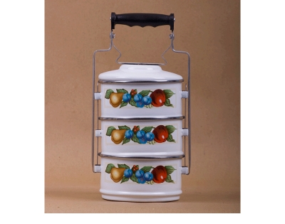3 pcs Lunch Carrier With Aluminium Handle||