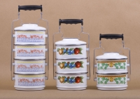 4 pcs Lunch Carrier With Aluminium Handle