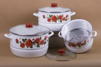 3 pcs Stock Pot with Steamer